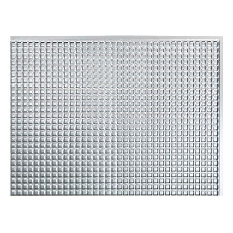 Brushed Aluminum Tile Backsplash by Fasade 24 In X 18 In Squares Pvc Decorative Tile