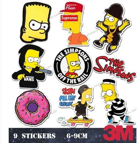 Simpsons Supreme Sticker