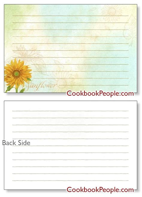 avery template for recipe cards free 4x6 recipe card templates