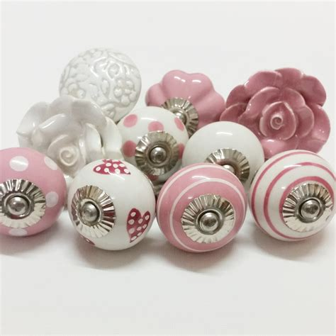 Draw Knobs by Polly Cotton Ceramic Knobs Decorative Drawer Handles