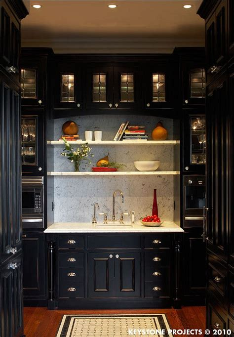 Black Pantry Cabinets by Butler S Pantry Black Cabinets Kitchens