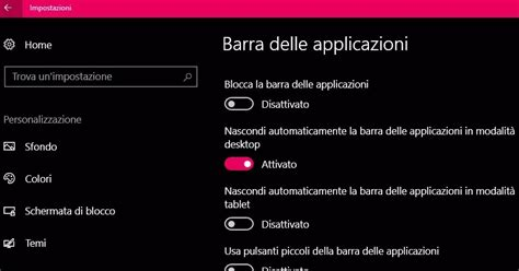 nascondere la barra delle applicazioni  windows