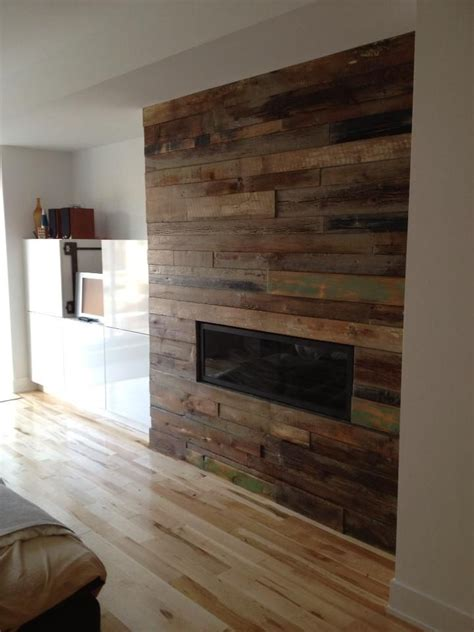 custom reclaimed wood fireplace for the home