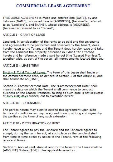 commercial tenancy agreement template free free florida commercial lease agreement microsoft word