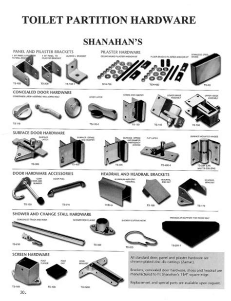 bathroom stall parts toilet partition hardware shanahan s wielhouwer