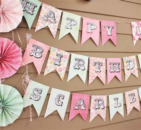 How To Make A Happy Birthday Banner Of Paper - diy summer banners and backgrounds