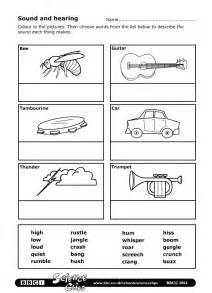 bbc schools science clips sound and hearing worksheet