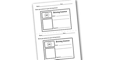 driving license template driving licence template play play