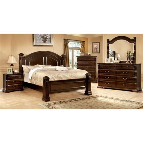 furniture  america oulette  piece queen bedroom set  cherry idf  pc