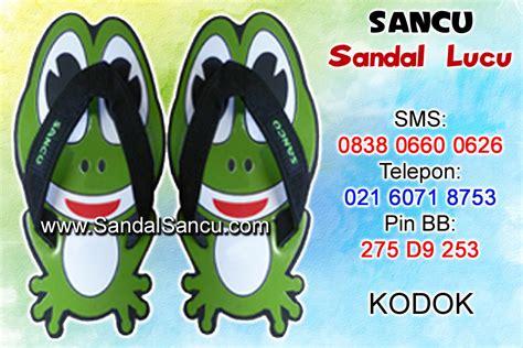 Sancu Sandal Lucu Monyet Coklat jual sandal sandal lucu model kodok jual sandal lucu