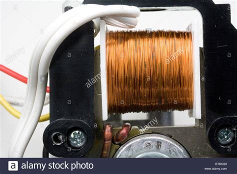 Electric Motor Coil coil of copper wire in electric motor stock photo