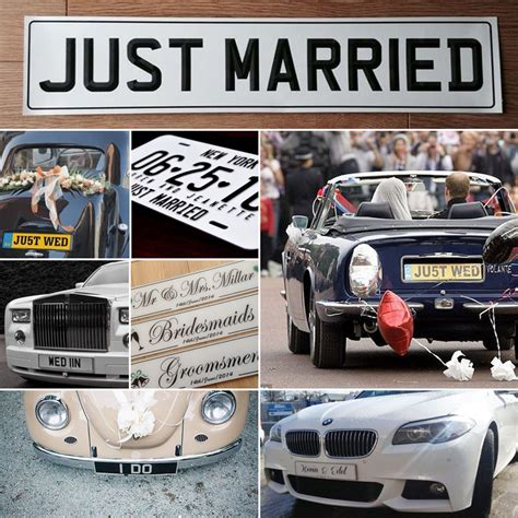 Wedding Car Number Plates by Wedding Number Plates