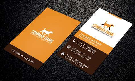 basic business card template psd simple and clean business card psd template by