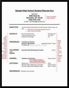 Resume Template For School Application High School Resumes For College Applications Resume Gallery For High School Resume Sle For