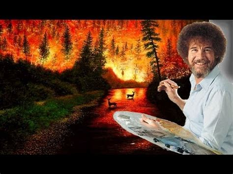 bob ross of painting years bob ross happy trees in the sky tribute