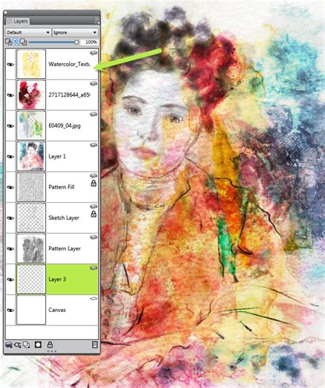 corel painter pattern creating impressionistic portraits with watercolors