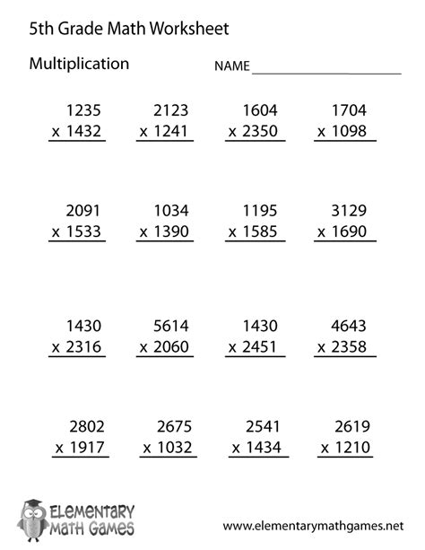 printable division worksheets for 5th graders fifth grade multiplication worksheet