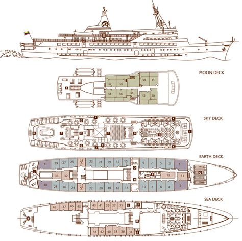 cruise ship floor plans deck plans and specifications of the galapagos legend boat