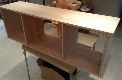 Desk Into Vanity How To Build A Simple Diy Tv Stand Using Wood
