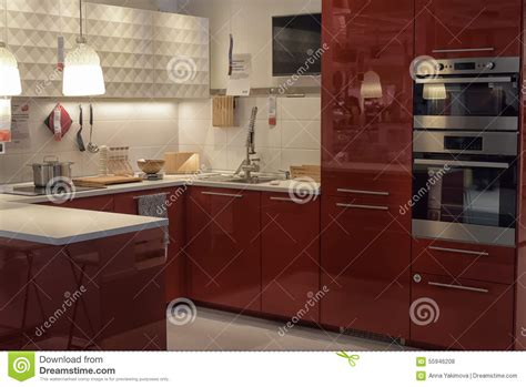 kitchen furniture stores kitchen in furniture store ikea editorial image