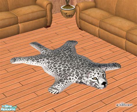 snow leopard rug windkeeper s faux snow leopard skin rug