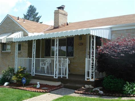 aluminum porch awning awning ideas front porch front porch metal awnings interior designs