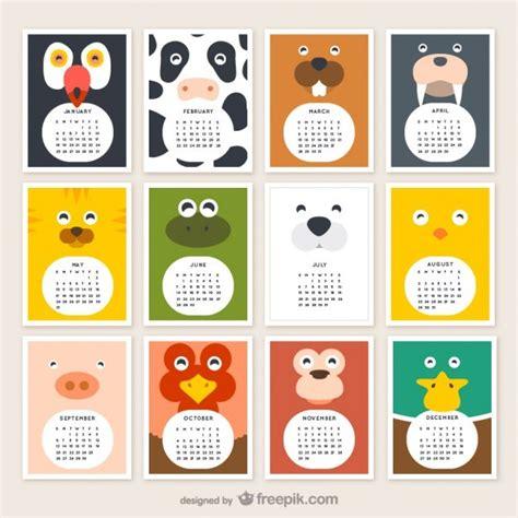 printable animal calendar 2017 calendarios 2015 infantiles jumabu