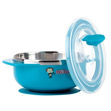 nuby suction bowl nuby stainless steel suction bowl with lid blue pupsik