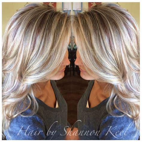 platinum blonde highlights and lowlights platinum blonde hilights and lowlights with little pops of