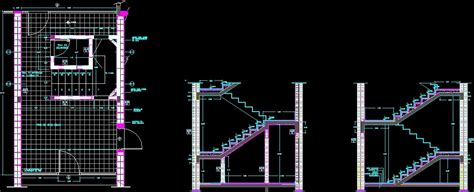 stair section dwg stair two tracts dwg section for autocad designscad