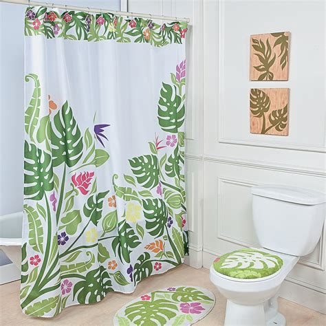 palm leaf shower curtain home decor accents holiday decorations accessories