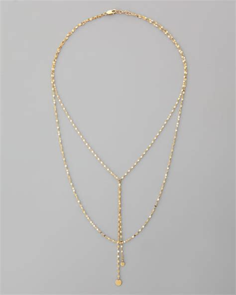 Necklace In 14k P 183 14k gold lariat necklace
