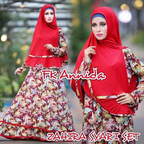 Busana Muslim Gamis Zahira Set fk annida fashion butiq