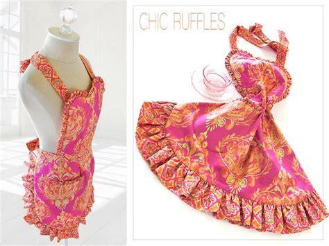 apron pattern with ruffles reversible heart ruffle apron in tangier ikat free