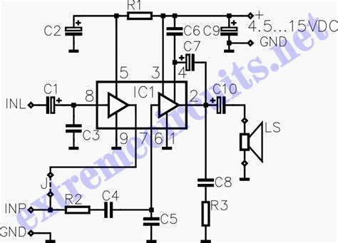 Power Lifier 500 Watt schematic of a simple subwoofer circuit 9 volt 3 watt