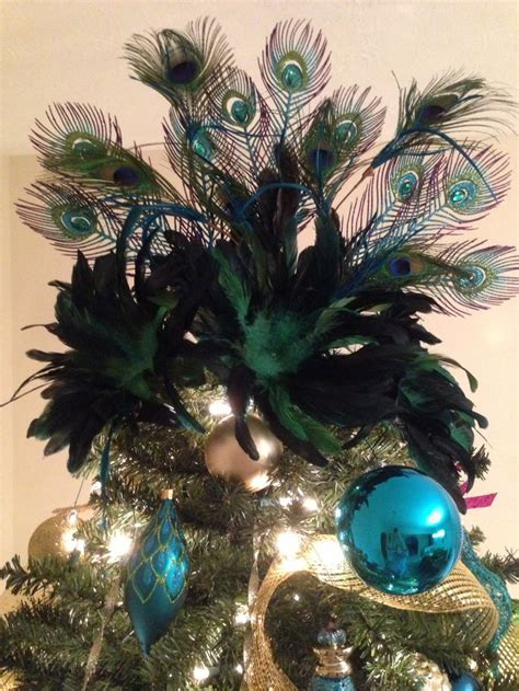 my peacock christmas tree topper melissa s tree pinterest