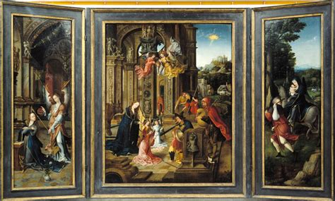 Panel Artwork by The Athenaeum Triptych Jan De Beer