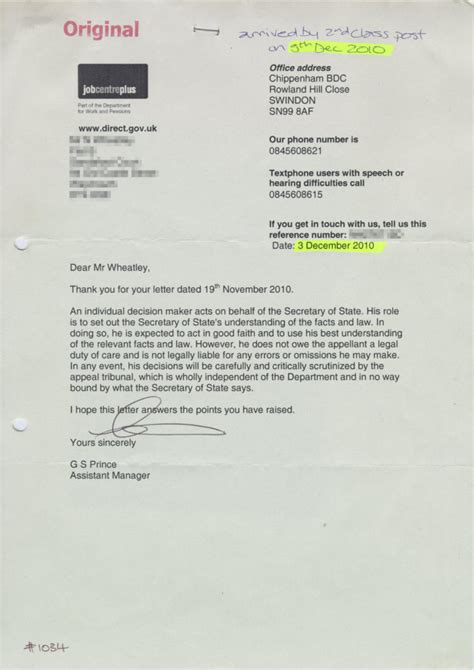 National Insurance Letter K letters are dwp decision makers submitting fabricated