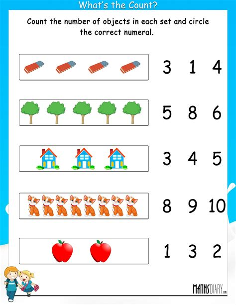 count the number of objects worksheets mathsdiary count
