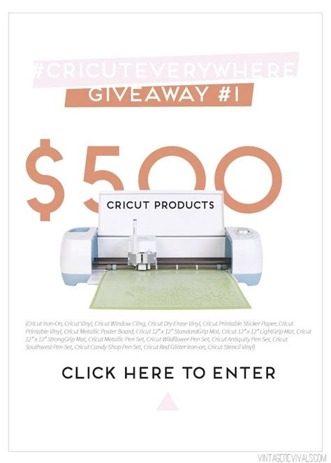Cricut Giveaway - inspiration is 500 giveaway vintage revivals