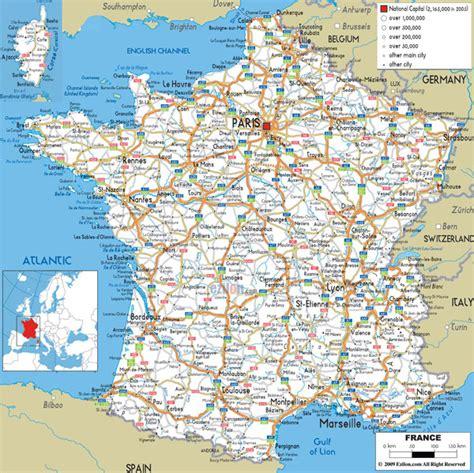 all cities in map large detailed road map of with all cities and