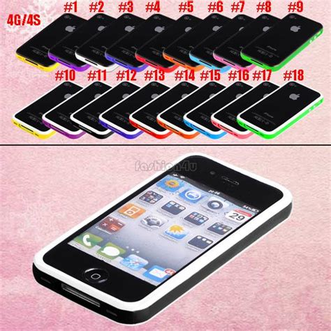 Bumper Ruber For Iphone 4 4s Frame Casing rubber gel bumper cover frame for apple iphone 4 4th 4s 5 5g 5th 5c ebay