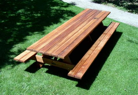 wooden picnic benches decorate wooden picnic tables home design ideas