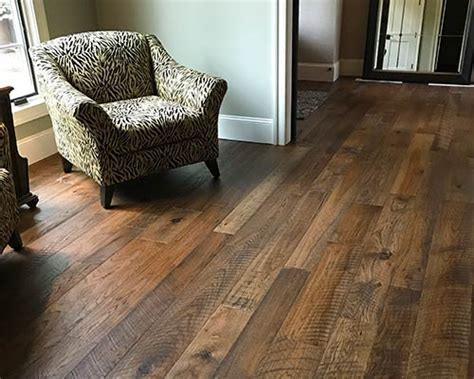 Organic Hickory Engineered Hardwood Installed by Dixie
