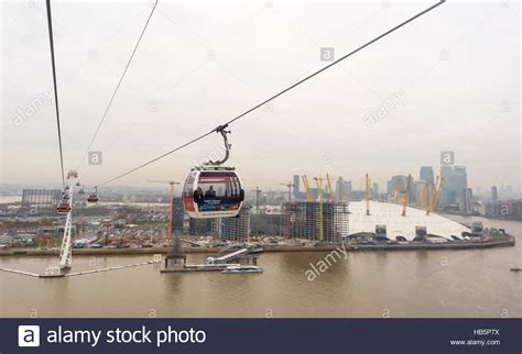 thames river crossing crossing the river thames in an emirates cable car next to