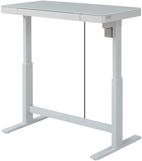 bell o adjustable height desk bell o white adjustable height desk from
