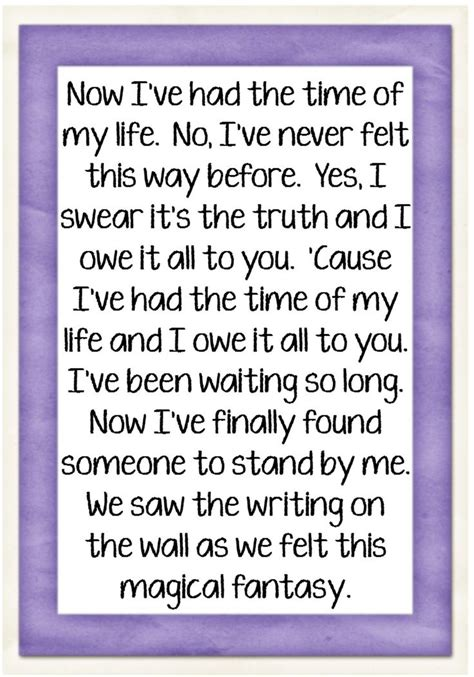 dirty dancing time of my life lyrics jennifer warnes i ve had the time of my life song