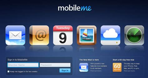 mobile me app mobileme web apps back with updated mail ui app