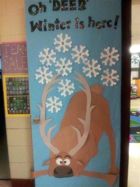 christmas door decorations for school winter door decorating ideas for school snowman classroom door decoration winter door