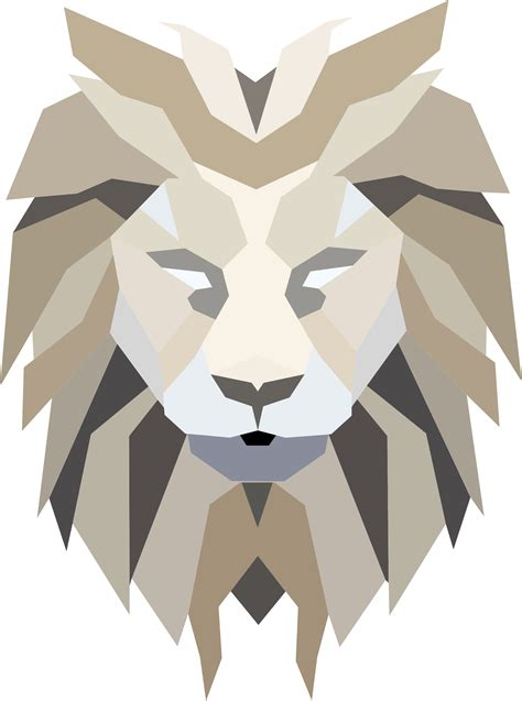 Jungle Animals Wall Stickers clipart polygonal lion face
